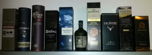 My collections of fine whisky